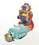 搏斗两个的机器人 库存图片