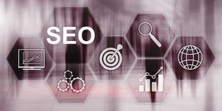 搜寻优选在抽象企业背景的引擎SEO r 图库摄影