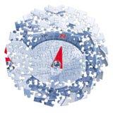 搜寻您的方式-在七巧板形状的概念图象 库存照片