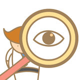 搜索使用放大器的人 库存图片
