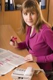搜索妇女的工作 免版税图库摄影