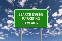 搜索引擎市场活动标志 免版税图库摄影
