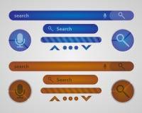 搜索引擎的接口的元素 库存图片