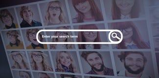 搜索引擎的综合图象 免版税图库摄影