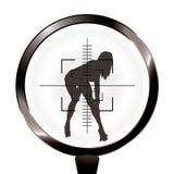 搜索步枪性感的目标 库存例证