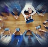 搜寻会议概念的商人 免版税库存照片