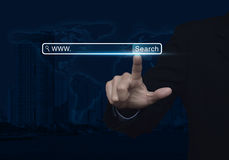 搜索系统和互联网概念,美国航空航天局装备的这个图象的元素 免版税图库摄影