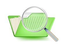 搜寻在文件夹 免版税图库摄影
