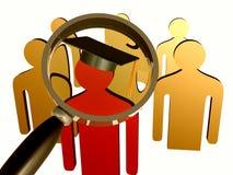 搜索教育的领导先锋图标 免版税图库摄影