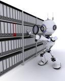 搜寻文件的机器人 免版税库存图片