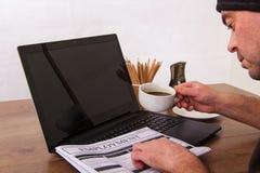搜寻新的工作或就业 免版税库存照片