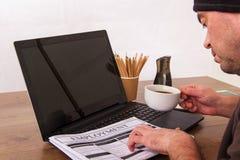搜寻新的工作或就业 免版税库存图片