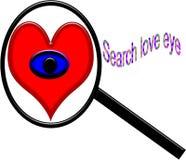 搜寻真实的爱眼睛有白色背景 向量例证