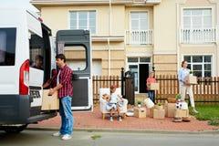 搬出的家庭 库存图片
