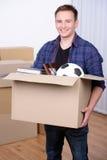 搬到房子 免版税库存图片