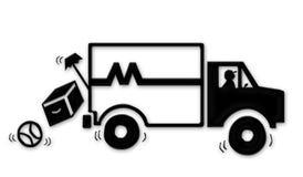 搬家工人移动货车 免版税库存照片