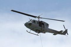 搬空直升机 免版税库存图片