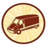 搬运车的例证在椭圆的 免版税库存图片