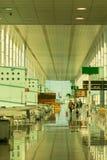 搭乘休息室在巴塞罗那国际机场El相互的Prat 免版税库存图片