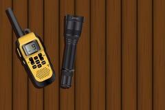 携带无线电话和灯笼 库存照片
