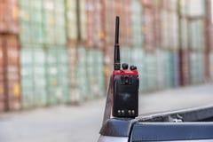 携带无线电话收音机 免版税库存图片