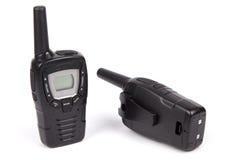 黑携带无线电话 免版税图库摄影