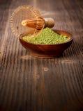 搽粉的绿茶 免版税库存图片