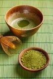 搽粉的绿茶 图库摄影