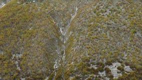 摄制从Mheer,惊人的旅游地方Ushba山,其中一个高加索山脉的最著名的峰顶 影视素材