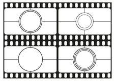 摄制读秒模板,电影院框架,影片小条边界,传染媒介 图库摄影