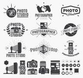 摄影和照片演播室商标 皇族释放例证