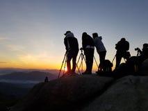 摄影师享用拍照片 库存图片