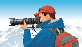摄影师体育运动 向量例证