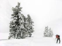 摄影师冬天 库存图片