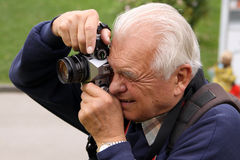 摄影师前辈 免版税库存照片