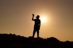 摄影师和太阳 图库摄影