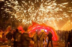 摄影师在新年 免版税库存图片