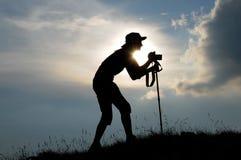 摄影师妇女 免版税库存图片