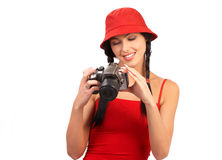 摄影师妇女 图库摄影