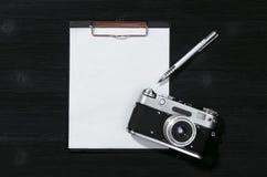摄影师射击名单 图库摄影