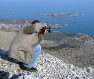 摄影师射击 库存图片