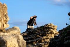 摄影师年轻人 图库摄影