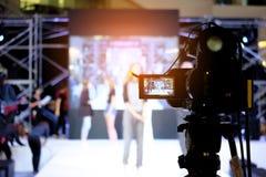 摄影师录影记录活动事件 免版税库存图片
