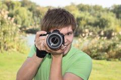 摄影师微笑 免版税图库摄影