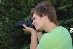 摄影师微笑 免版税库存照片