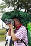 摄影师拍照片用雨设备 图库摄影