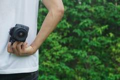 摄影师拍照片 免版税库存图片