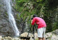 摄影师拍照 免版税库存照片