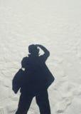 摄影师的影子 免版税图库摄影