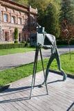 摄影师矿泉水公园雕象在博尔若米 佐治亚 免版税库存图片